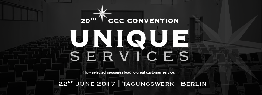 """Unique Services"" – die Jubiläumsausgabe der CCC Convention in Berlin"