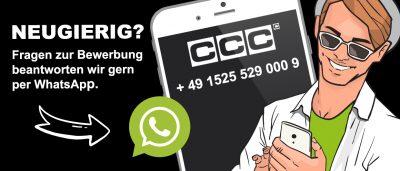 Kontaktiere uns per WhatsApp unter der Nummer: +4915255290009