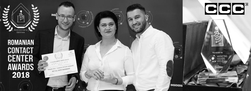 CCC Bukarest bei den Romanian Contact Center Awards 2018 ausgezeichnet