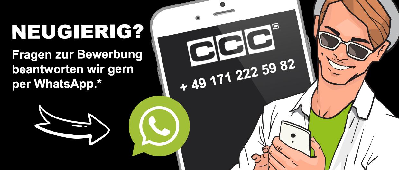 Kontaktiere uns per WhatsApp unter der Nummer: +491712225982