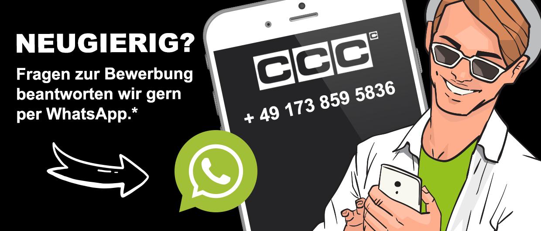 Kontaktiere uns per WhatsApp unter der Nummer: 491738595836