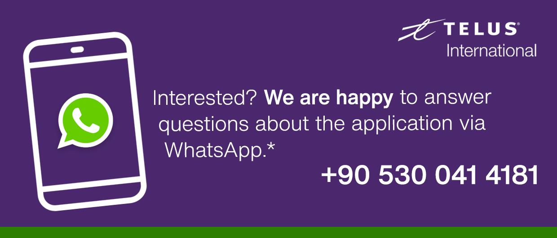 Contact us via WhatsApp: 905300414181